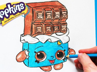 """How to Draw Shopkins Season 1 """"Cheeky Chocolate"""" Step By Step Easy   Toy Caboodle"""