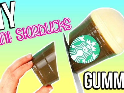 HOW TO MAKE A GIANT STARBUCKS GUMMY BOTTLE | DIY Giant Jelly Starbucks Cup!!