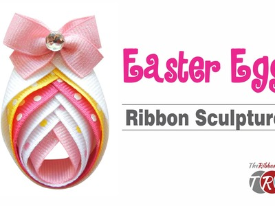 How to Make an Easter Egg Ribbon Sculpture - TheRibbonRetreat.com