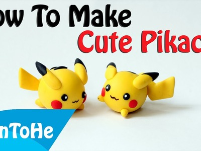 How To Make Cute Pikachu Very Easy Homemade - Toy For Kids With Japanese Polymer Clay