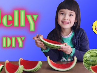 How to Make Watermelon Jelly DIY Jello Desert for Kids Fun and Easy | TheChilhoodLife