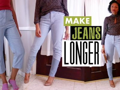 Make Jeans Longer the Cool Way! + GIVEAWAY WINNER | Refashion How to | BlueprintDIY