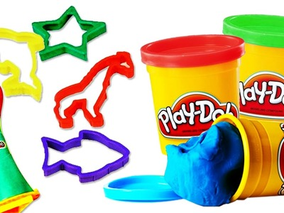 Play Doh Super Moulding Mania - Learn How To Make Colorful Playdough Shapes and Animals