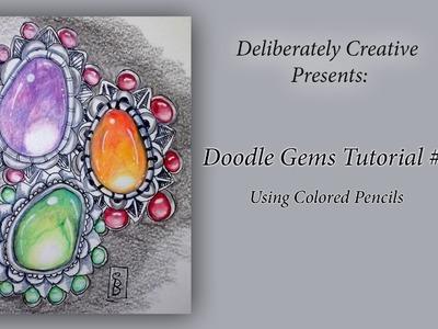 Tutorial How to Make Zen Doodle Gems Episode: 1,  #CACfantasyart