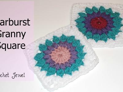 Crochet a Starburst Granny Square Tutorial