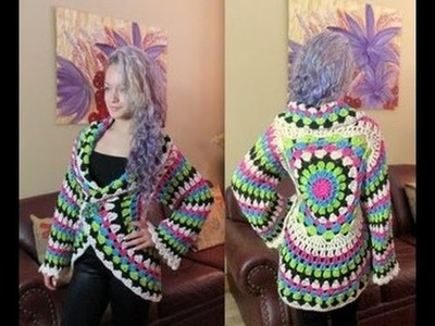 Crochet Circular Cardigan -  with Ruby Stedman