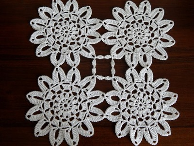 Crochet Flower Motif Tutorial Part 2