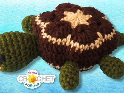 Crochet Turtle Stuffed Toy Tutorial - African Flower Hexagon