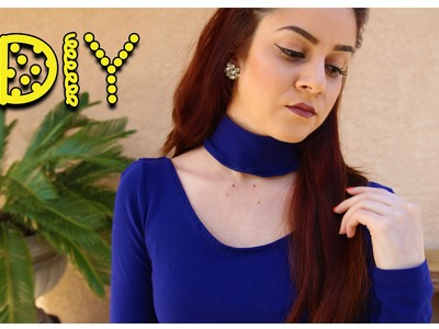 DIY Choker Neck Top || Lucykiins