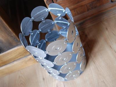 DIY | Disk trash can