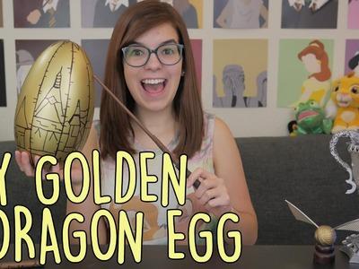 DIY Golden Dragon Egg from Harry Potter | SoundProofLiz