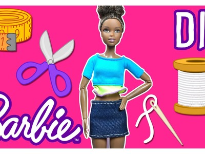 DIY - How to Make Barbie Doll Clothes - Jean Barbie Doll Skirt – Barbie Tutorial – Making Kids Toys