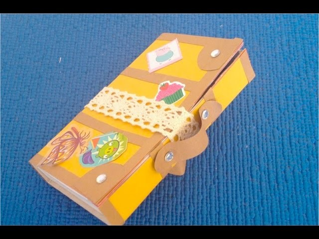 DIY. How to Make Doll Luggage, Make a Paper Suitcase, My Crafts