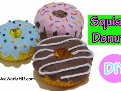 DIY: How to Make  Squishy Donuts Toy. Room Decor by Creative World