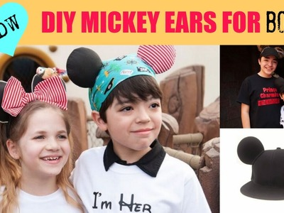DIY MICKEY MOUSE Boy Ears - Chewbacca - Cars - Pirates