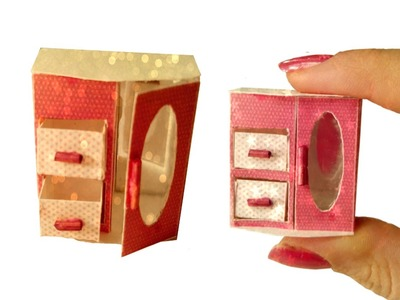 DIY Miniature Jewelry Box for Dollhouse TUTORIAL - Crafts