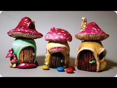 DIY Mushroom Fairy House Jars