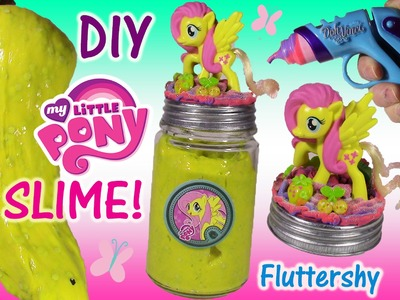 DIY My Little PONY FLuttershy GLITTER SLIME! Make Your Own Yellow Squishy Putty! DohVinci FUN!