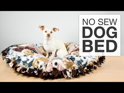 DIY No Sew Fleece Dog Bed Tutorial