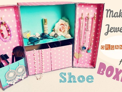 DIY Storage   Makeup Jewelry Organizer from Shoe boxes