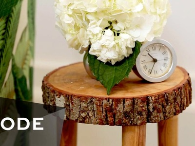 DIY Tree Stump Table | Glam It Yourself