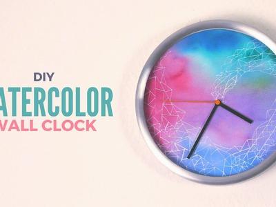 DIY: Watercolor Wall Clock
