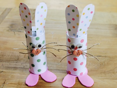 Easter craft: How to make toilet roll bunnies