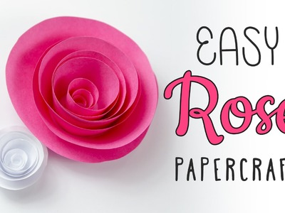 Easy Papercraft Rose Swirl Tutorial ♥︎ DIY ♥︎