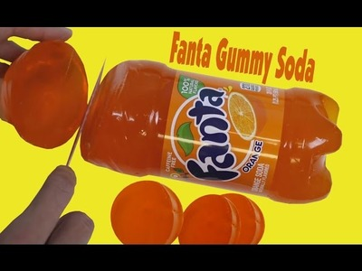 Giant Fanta Jelly Gummy Soda Fun - DIY Orange Soda Jello simply made by your Self