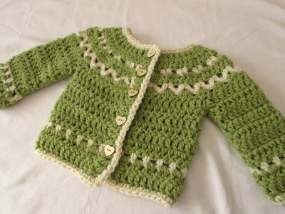 How to crochet a chunky, fair isle children's sweater. cardigan