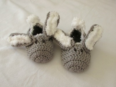 How to crochet children's bunny slippers. booties for beginners