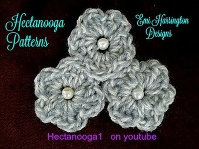 How to crochet quick and easy, LITTLE CROCHET FLOWERS