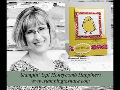 How to Make a Corner Fold Card with Stampin' Up! Honeycomb Happiness
