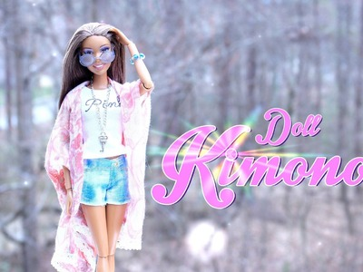 How to Make a Doll Cardigan Kimono - Doll Crafts