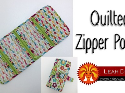 How to Make a Quilted Zipper Organizer - Quilty Box Challenge