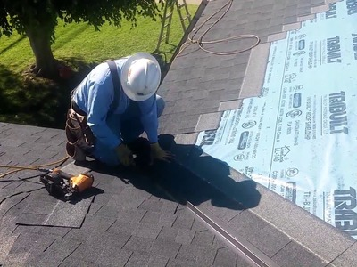 HOW TO VIDEO: Roofing Basics . Installing a valley on a shingle roof. the easiest and fastest way