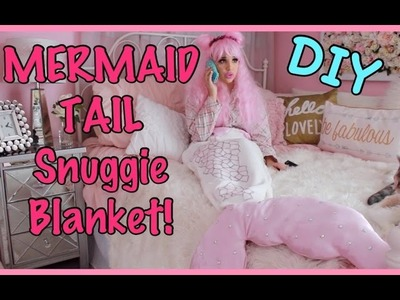 MERMAID TAIL Snuggie Blanket DIY!