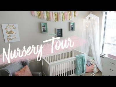 NURSERY TOUR | Baby Girl's Room + DIY Decor | RAVEN ELYSE