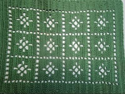 Uncinetto Crochet Centrino Verde Tutorial