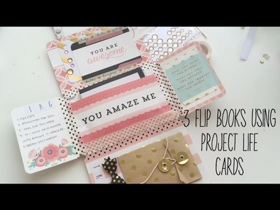 3 ways to make mail using project life cards