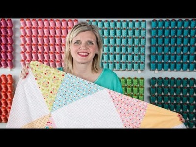 Bloom & Bliss Receiving Blanket Tutorial - Fat Quarter Shop