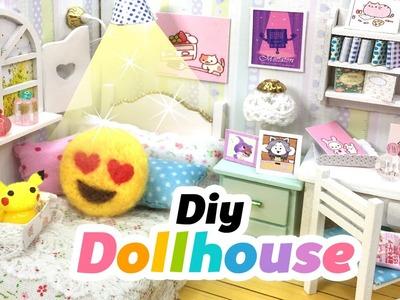 DIY Fandom Dollhouse!! Cute Miniature Room Decor With Undertale, Neko Atsume, Emoji, Pusheen & Co!