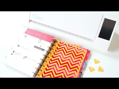DIY Silhouette Cameo 2 Planner Accessories