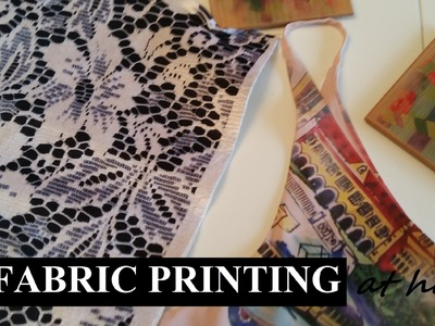 Sublimation fabric printing at home