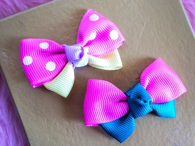 DIY: How to make ribbon bow hair clip
