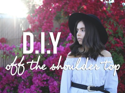 DIY Off the Shoulder Top