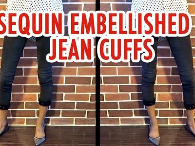 DIY Sequin Embellished Jean Cuffs - HGTV Handmade