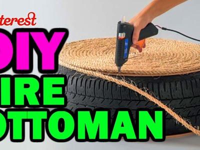 DIY Tire Ottoman - The NEW Man Vs Pin - Pinterest Test #1