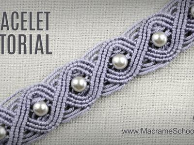 Eternal Wave Bracelet Tutorial in Vintage Style | Macrame School