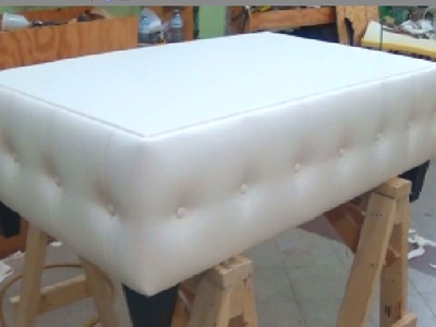 HOW TO UPHOLSTER A COFFEE TABLE WITH BUTTONS - ALO Upholstery